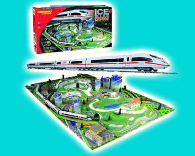 ЖЕЛЕЗНАЯ ДОРОГА MEHANO TRAIN LINE ICE WITH LAYOUT  Т737 с ландшафтом (без стрелок)